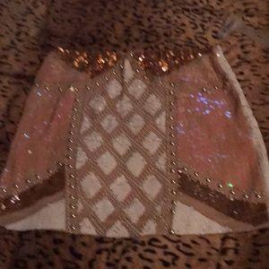 Sequin miniskirt size large beatiful skirt